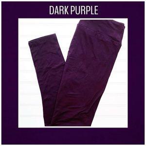OS or TC Dark Purple LuLaRoe Leggings